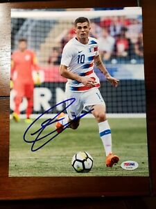 Chelsea FC USA Christian Pulisic Signed Photo Soccer Autograph PSA