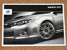 2011 SUBARU IMPREZA WRX STI Sales Brochure - 4 & 5 Door Models - Mint Condition