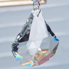 Only Clear Shui Drops Pendants Suncatcher Hanging Sector 50mm Crystal Prism Feng