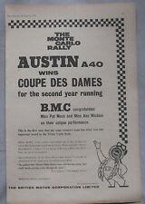 1960 BMC Monte Carlo Rally successes Original advert