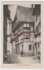 (77283) AK Livre Weiler, Bouxwiller, Bas-Rhin, Vieille Maison, église, V. 1945