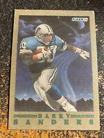 Barry Sanders Lions 1991 Fleer Pro Vision Insert RARE BLANK BACK