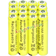 16x AAA battery batteries Bulk Nickel Hydride Rechargeable NI-MH 1800mAh 1.2V Ye