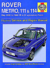 1711 Rover Metro 111 114 1990 - 1998 G to S Haynes Service and Repair Manual