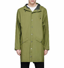 RAINS Unisex 1202 Long Jacket Relaxed Sage Green S/m