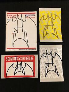 4 Sucky Bat Batola Eggshell Stickers FTP Graffiti MQ Barry McGee NYC JAone