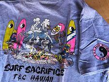 80's T&C Surf Designs T-shirt Men's   Large Heather gray