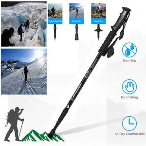 Trekking Walking Hiking Stick Poles Adjustable Alpenstock anti-shock Retractable
