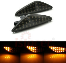 Pair Smoked Dynamic LED Side Marker Lights For BMW E70 X5 F25 X3 E71 X6