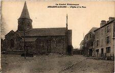CPA  Anglards-de-Salers - L'Eglise et la Place  (480401)