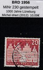 BRD 1956 MiNr.: 230 gestempelt 1000 Jahre Lüneburg