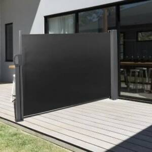 3m Retractable Screen Side Awning Patio Privacy Devider Shade Garden Sun Blind