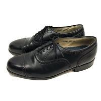 Florsheim Cap Toe Oxford Dress Shoes Mens US 8 Black Leather Lace Up Comfortech