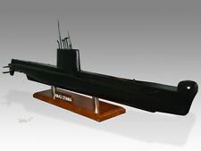 HMAS Otama Kiln Dried Solid Wood Handmade Desktop Submarine Model