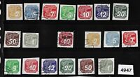 #4947    Complete stamp set / Newspaper WWII Third Reich Occupation 1930s & 40s