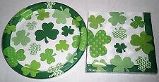 ST PATRICK'S DAY Paper Plates & Luncheon Napkins  ST PAT'S FUN