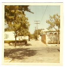 Vintage 70s PHOTO Street Alleyway Homes Clothesline In Santa Monica CA Area