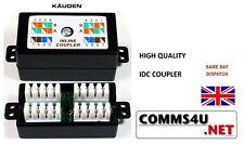 RJ45 Cat6 Cat5e Inline Coupler Joiner Punch IDC Krone Gigabit Cable Compatable