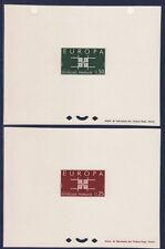 épreuve de luxe   paire Europa   de  1963   num: 1396/97