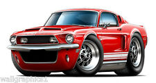 1968 Ford Mustang Shelby GT350 Wall Graphic Vinyl Decal Garage Man Cave Bar