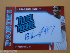 Panini NBA 2012-13 #85 BRANDON KNIGHT Detroit Pistons RATED ROOKIE 26/50