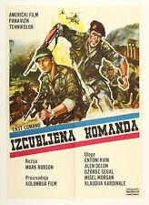 "1966 Izgubljena Komanda (Lost Command) Original Serbo-Croatian 19"" x 27"" Poster"