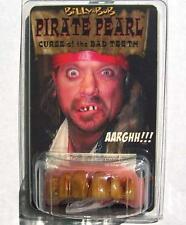 PIRATE STAINED TEETH  fake goofy joke bad false hill  billy bob costume NEW GAG