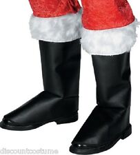 DELUXE SANTA SANTA CLAUS BOOT TOPS BOOT COVERS ADULT STANDARD ONE SIZE