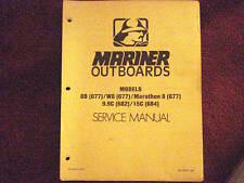 DEALER MANUAL- MARINER SERVICE MANUAL