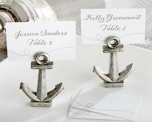 18 Nautical Anchor Beach Theme Place Card Holders Wedding Favors