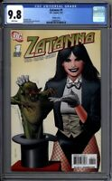 Zatanna 1 CGC Graded 9.8 NM/MT Brian Bolland 1:10 Variant DC Comics 2010