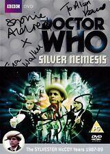 More details for doctor who - silver nemesis dvd - signed sylvester mccoy, sophie aldred+ 5 more!