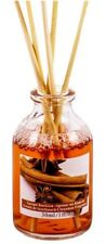 CINNAMON SCENTED ESSENTIAL OIL ROOM AIR FRESHENER REED DIFFUSER + STICKS 30ml