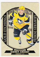 20/21 TIM HORTONS...SIDNEY CROSBY...GOLD ETCHINGS...CARD # G-15...PENGUINS