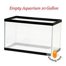 EMPTY AQUARIUM 10 Gallon Fish Tank Aqua Clear Glass Terrarium Reptiles Water