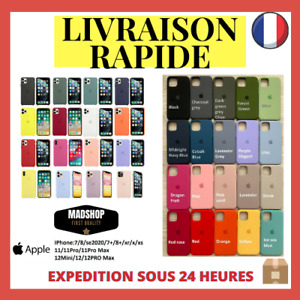 Coque Apple Silicone pour iPhone Original SE 7 8 Plus 11 12 Max Pro X Xs Xr
