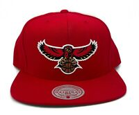 Mitchell & Ness Atlanta Hawks Red Team Ground Vintage HWC Snapback Hat Cap NBA