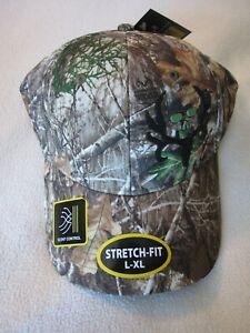 Men's L-XL RealTree Edge Camo Stretch-Fit Scent Control Hat/Baseball Cap NWT!