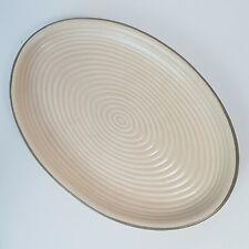 Vintage Canadian Art Pottery Laurentienne Beige Serving Platter