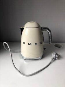 Smeg Cream Kettle Retro Style - Used But Working RRP £129