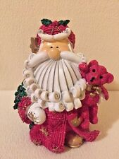 Berry Red Curly Beard Santa Christmas Trippie's 2002 - 6 inches Tall