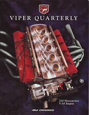 Dodge Viper literature collection from the '90s - 9 pieces in excellent cond.