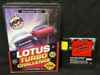 Lotus Turbo Challenge - Sega Genesis Working Box, Cover Art Game Tested Works