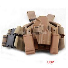 Tactical Serpa Right Leg Paddle Belt Thigh Pistol Holster DE For H&K USP Compact
