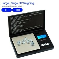 1000g/0.1g LCD Digital Pocket Scale Jewelry Gold Diamond Gram Weight Balance