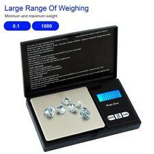 1000g/0.1g LCD Digital Pocket Scale Jewelry Coin Gold Diamond Gram Weigh Balance