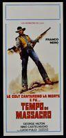 Cartel Tiempo Por Massacro COLT Morte Lucio Fulci Franco Negro George Hilton N59