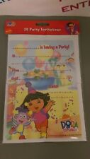 Pack 20 Dora the Explorer Party Invitations inc. Envelopes Birthday/Any Occasion