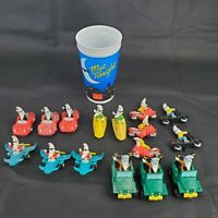 VTG McDonalds Mac Tonight Moon Man Happy Meal Toys Complete Lot of 16 & Rare Cup