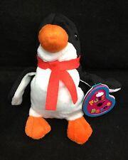 """Flipper the Penguin January Garnet Red Scarf WT Avon Full Bean Plush 1999 6"""" Toy"""